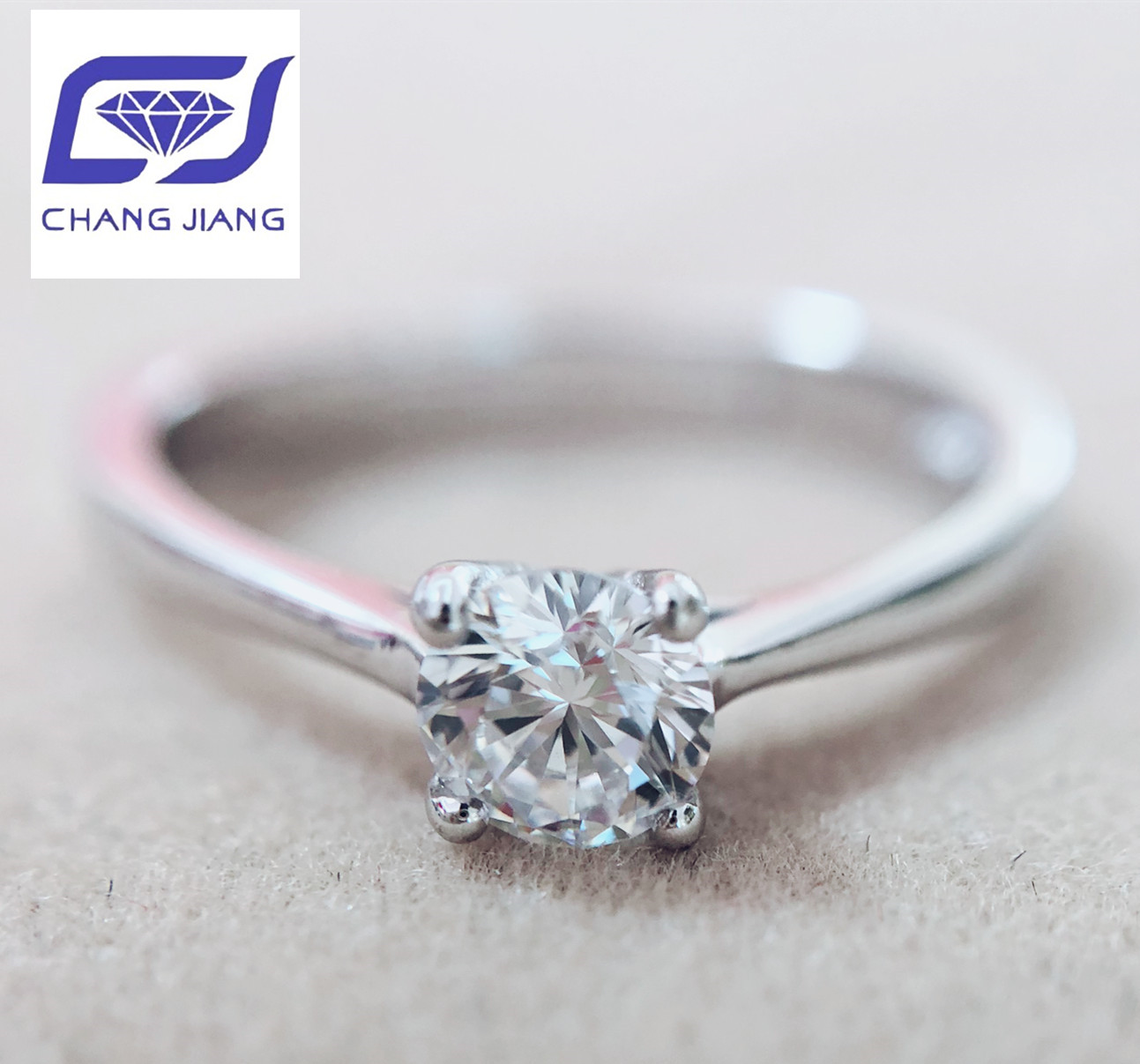 New Design Moissanite Stone Wedding Ring